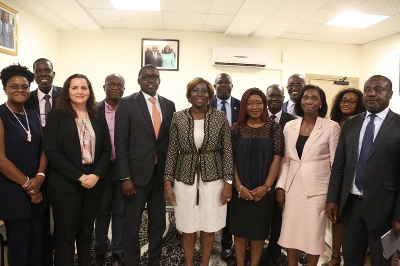 IAudience avec la Ministre de l'Education Nationale, de l'Enseignement Technique et de la Formation Professionnelle.